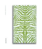 RugStudio presents The Rug Market America Resort Zebra Green 25221 Green/white Hand-Hooked Area Rug